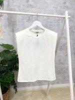 Shirt offwhite mit Schulterpolster