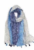 Schal Flower blau