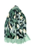 Leichter Schal Leopard grün