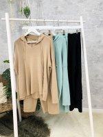 Homewear Anzug unifarben