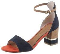 Sandalette blau/orange