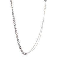 Silberkette dünn doppelt gemustert