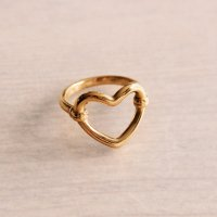 Ring 'Open Heart' gold