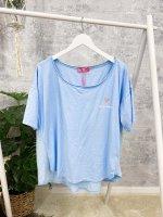 Shirt 'Love' blau