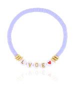 Elastisches Armband lila