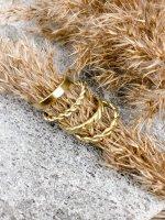 Ring Set gold  (4tlg)